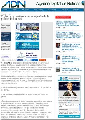 Pichettismo quiere una radiografía de la publicidad oficial   ADN