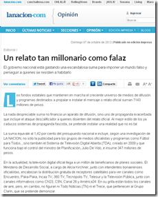 Un relato tan millonario como falaz   07.10.2012   lanacion.com